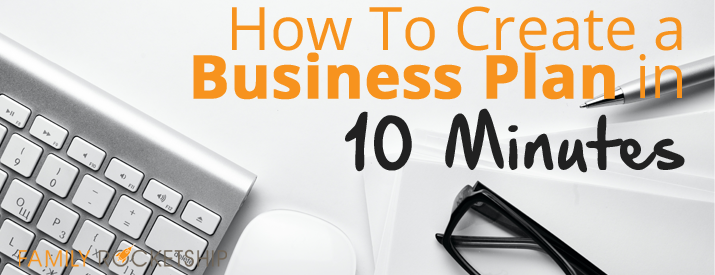 Create Business Plan 10 Minutes on Busy Binder